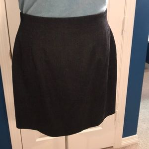 Authentic Burberry Gray Wool Skirt Size 12
